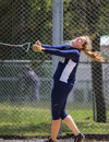 Hammer Throw Release Royalty Free Stock Photo