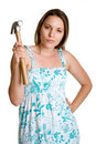 Hammer Woman Royalty Free Stock Photography