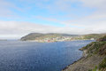 Hammerfest town view of in the north of norway Stock Photo