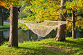 A hammock  in autumn Park Stock Images