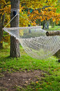 A hammock  in autumn Park Royalty Free Stock Photos