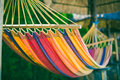 Hammock at the beach colored Stock Photography