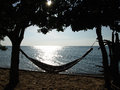 Hammock chill day at the sea Royalty Free Stock Photo