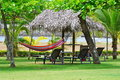 Hammock hanging on the lawn Stock Image