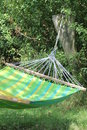 Hammock hanging on a tree relaxation Stock Photo