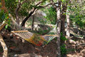 Hammock made of a net. Royalty Free Stock Photo