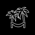 Hammock on palm icon. Beach and vacation icon vector illustratio Royalty Free Stock Photo