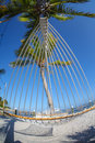 Hammock on summer beach Stock Photo