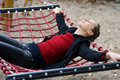 In Hammock: Tranquility moment Royalty Free Stock Images