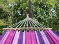 Hammock on the tree near forrest Royalty Free Stock Photography