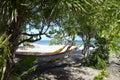 Hammocks by the beach Royalty Free Stock Photo