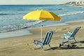 Hammocks and beach Royalty Free Stock Photo