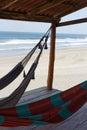 Hammocks in beach Royalty Free Stock Photo