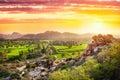 Hampi dolina w India