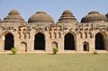 Hampi elephant stables in ruins india Royalty Free Stock Image