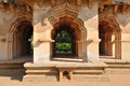 Hampi ruins lotus mahal at the zenana enclosure in south india Stock Images