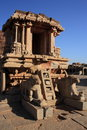 Hampi stone chariot at vitthala temple in karnataka state india Stock Photography