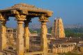 Hampi Stone Gazebo Virupaksha Temple Ancient Royalty Free Stock Photography