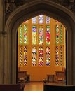 Hampton Court Palace - Stained Glass Window Royalty Free Stock Photo