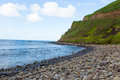 Hana Bay Pebble Beach, Maui, Hawaii. Royalty Free Stock Photo