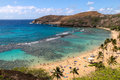 Hanauma Bay in Oahu, Hawaii Royalty Free Stock Photo