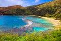 Hanauma bay oahu hawaii known for snorkeling Stock Photography