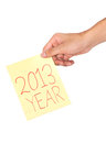 Hand and 2013 Stock Photo