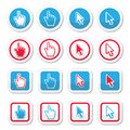 Hand and arrow cursor vector icons set Royalty Free Stock Photo