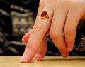 Hand attitude-close-up Royalty Free Stock Photo