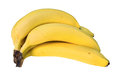 Hand of bananas picture a with a clipping path Royalty Free Stock Photo