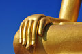 The hand of big buddha in chiang khan loei thailand Royalty Free Stock Image