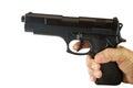 Hand with black gun Royalty Free Stock Photo