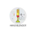 Hand Blender Electronic Cooking Utensils Icon Royalty Free Stock Photo