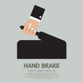 Hand brake holding vector illustration Royalty Free Stock Photos