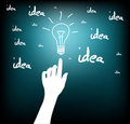 Hand_bulb_idea Royalty Free Stock Photography