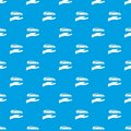 Hand and car pattern seamless blue