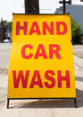 Hand Car Wash Royalty Free Stock Photo