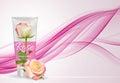 Hand Care Cream Bottle, Tube Template for Ads or Magazine Backgr