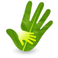 Hand care logo Royalty Free Stock Photo