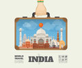Hand carrying India Landmark Global Travel And Journey Infograph