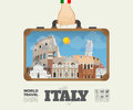 Hand carrying Italy Landmark Global Travel And Journey Infograph