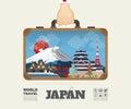 Hand carrying Japan Landmark Global Travel And Journey Infograph