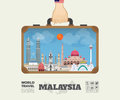 Hand carrying malaysia Landmark Global Travel And Journey Royalty Free Stock Photo