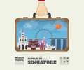 Hand carrying Singapore Landmark Global Travel And Journey Infog