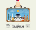 Hand carrying Taiwan Landmark Global Travel And Journey Infograp