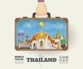 Hand carrying Thailand Landmark Global Travel And Journey Infogr