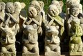 Hand carved statues for sale to tourists in bali artisanwork helps sustain many families Stock Photos