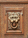 Hand Carved Wood Door Royalty Free Stock Images