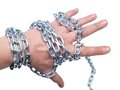 Hand in chain Stock Images