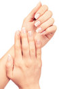 Hand with clipping paths isolated on a white background Stock Photo